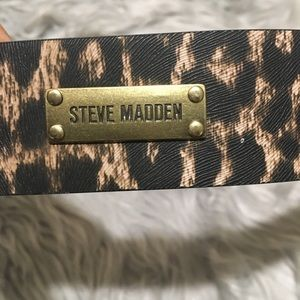 Steve Madden Animal Print cheetah belt embossed